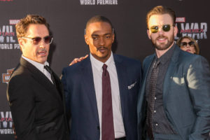 Robert Downey Jr., Anthony Mackie, Chris Evans